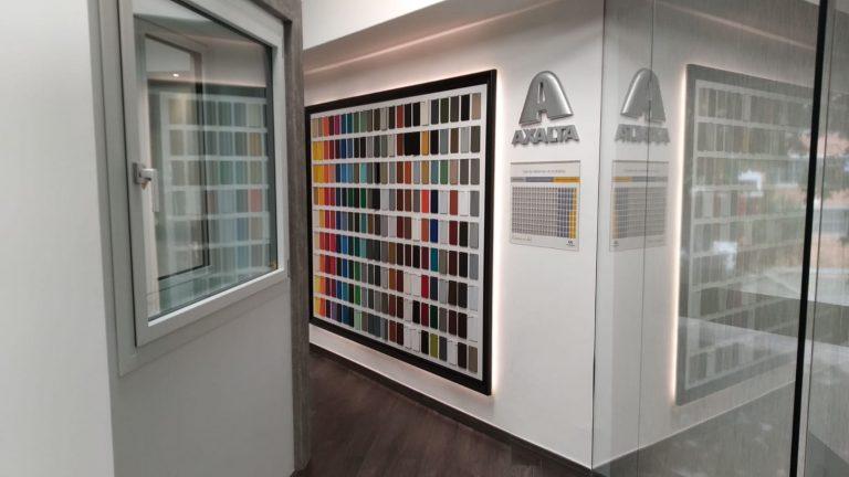 color en ventanas de aluminio